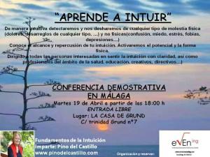 Aprende a intuir - Conferencia en Málaga día 19 2016